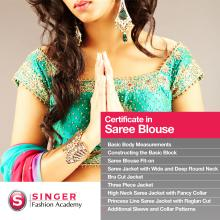 Singer Fashion Academy Certificate In Saree Blouse Course