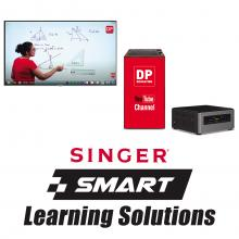 Singer Digital Classroom Solution - 4K Display, Mini PC And Peripherals, Podium Stand