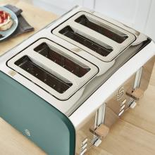 Swan 4 Slice Nordic Style Toaster 1500W (Green)